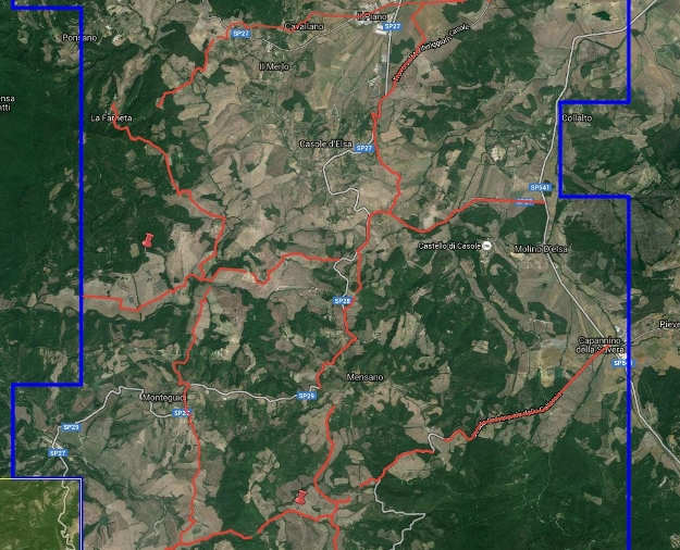 mappa tracciati sismica a riflessione